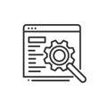 SEO - modern vector line icon.