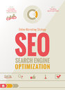 Seo online marketing strategy design Imagem de Stock Royalty Free