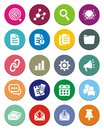 Seo round icon sets suitable for user interface Stock Image