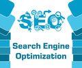 SEO - Search Engine Optimization Blue Abstract Shapes Square