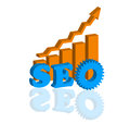 SEO - Search Engine Optimization Flat Icon Vector Stock Image