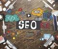 SEO Search Engine Optimization Internet Digital Concept Royalty Free Stock Photo