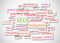 SEO - Search Engine Optimization vector background Royalty Free Stock Photos
