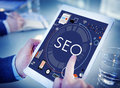 Seo search technology business webpage concept Stock Image