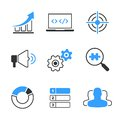 SEO simple vector icon set Royalty Free Stock Photo