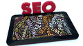 Seo tablet and search engine optimization concepts Stock Image