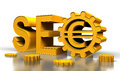 Seo tag with gears Royalty Free Stock Photo
