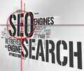 Seo Target word collage Royalty Free Stock Photos