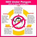 SEO Under Penguin Royalty Free Stock Photography