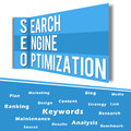 SEO Wall Blue with Keywords