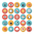 Seo and web icons set flat design modern vector illustration of website searching optimization technology development object Royalty Free Stock Photography