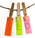 SEO word Royalty Free Stock Image