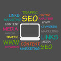 Seo word cloud Photo stock