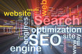 SEO word cloud box package Royalty Free Stock Photo