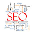 Seo word cloud concept Royaltyfri Foto