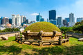 Seonjeongneung royal tombs the in the heart of downtown seoul Stock Image