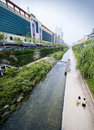 Seoul - artificial river Stock Photo