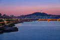Seoul city and Han river Royalty Free Stock Photo