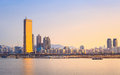 Seoul City and Han River at Yeouido Royalty Free Stock Photo