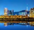 Seoul city at night Royalty Free Stock Photo