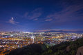 Seoul Cityscape at night, South Korea Royalty Free Stock Photo