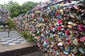 Seoul N tower padlocks Royalty Free Stock Photo