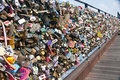 Seoul N tower padlocks Royalty Free Stock Images