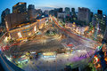 Seoul nightview korean summer view building street Royalty Free Stock Photography
