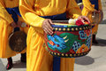 Seoul, South Korea, traditional parade of the royal guard drum Royalty Free Stock Photo