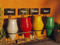 Separate garbage in original ceramic pots containers in egypt Stock Photos