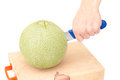 Separate melon on the cutting board Stock Photography