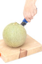 Separate melon on the cutting board Royalty Free Stock Images
