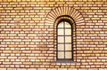 Separate window in brick wall old Royalty Free Stock Photo