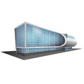 Separately standing office building business center detached multistory Stock Image