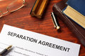 Separation agreement form Royalty Free Stock Photo