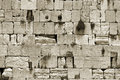 Sepia cut out of wailing wall Royalty Free Stock Photos