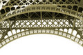Sepia Eiffel Tower Detail in Paris France Royalty Free Stock Photo