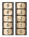 Sepia film strip countdown Royalty Free Stock Images