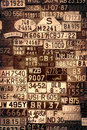 Sepia License Plates Royalty Free Stock Photo