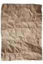 Sepia paper with wrinkles on a white background Stock Images