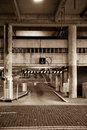 Sepia Parking Entrance Royalty Free Stock Photography
