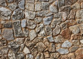 Sepia stone wall Stock Photo