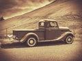 Sepia Vintage Truck Royalty Free Stock Photo