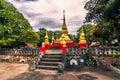 September 20, 2014: Buddhist stupa in Luang Prabang, Laos Royalty Free Stock Photo