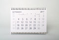 September. Calendar of the year two thousand seventeen. Royalty Free Stock Photo