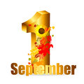 September date vector illustration this is file of eps format Stock Photography