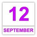 September 12. Day on the calendar.