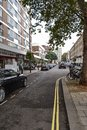 September 19, 2014, London, UK, view of the street with houses w