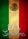 Septembra 16 mexičan nezávislosť španielčina karta plagát