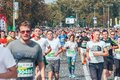 September 9, 2018 Minsk Belarus Half Marathon Minsk 2018 Running in the city Royalty Free Stock Photo